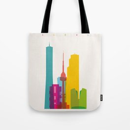 Shapes of Seoul accurate to scale Tote Bag