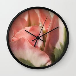 Rose and Green Tulip 2 by Teresa Thompson Wall Clock