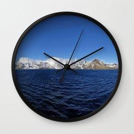 Antarctic Mountain Range Wall Clock
