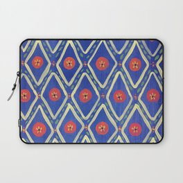 Blue and Yellow Diamond Laptop Sleeve