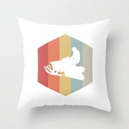 Retro Snowmobile Wintersport Sled Gift Idea Throw Pillow