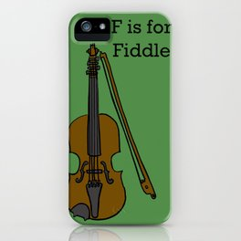 Fiddle, Typed iPhone Case