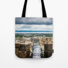View of Edinburgh, Scotland from Edinburgh Castle Tote Bag