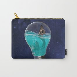 Awesome light bulb with mermaid Carry-All Pouch