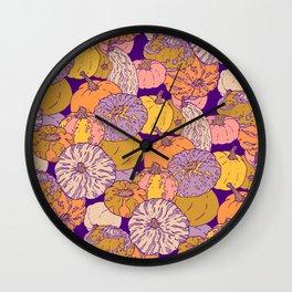 Pumpkin pattern Wall Clock