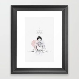 Making B, with ink and tea Framed Art Print