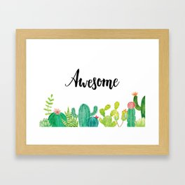 Awesome Succulents Framed Art Print