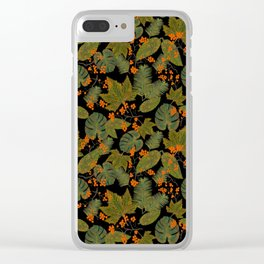 leaves and berries Clear iPhone Case