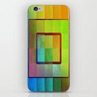 aperture iPhone & iPod Skins featuring Aperture #3 Vibrant Fractal Pleat Texture Design by CAP Artwork & Design