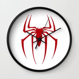 Red Spidey Wall Clock