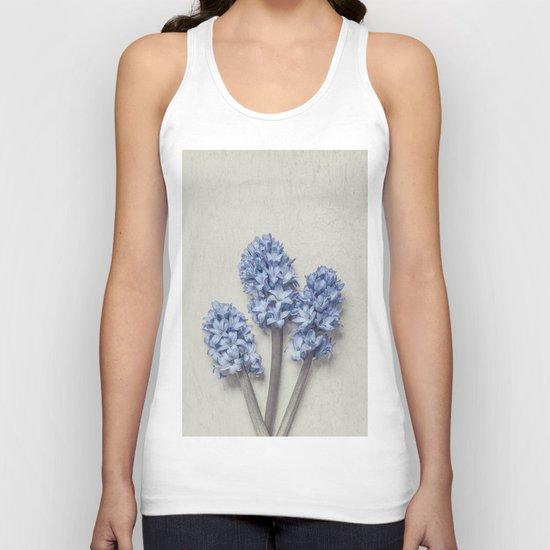 Light Blue Hyacinths Unisex Tank Top