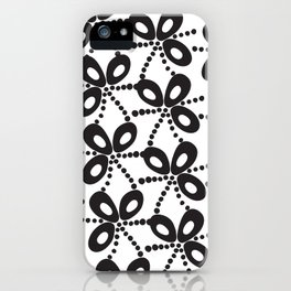 Quirky Black & White iPhone Case