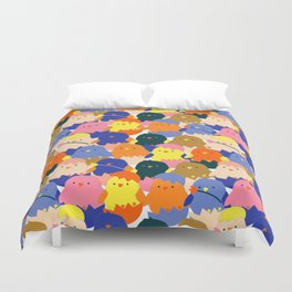 Colored Baby Chickens pattern Duvet Cover