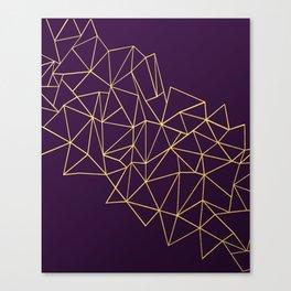 Ultra Purple Geo Canvas Print