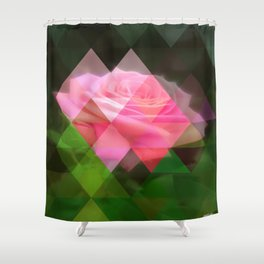 Pink Roses in Anzures 3 Art Triangles 1 Shower Curtain