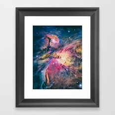 The awesome beauty of the Orion Nebula  Framed Art Print