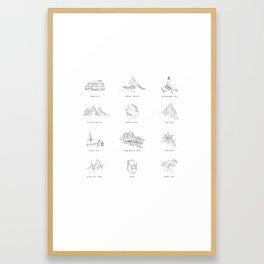 European Road Trip Framed Art Print