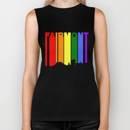Fairmont West Virginia Gay Pride Rainbow Skyline Biker Tank