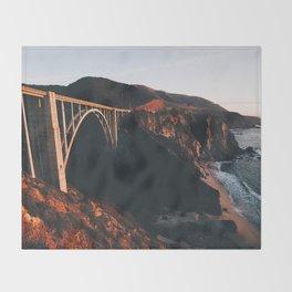 Sunburnt Bixby Bridge - Big Sur, California Throw Blanket