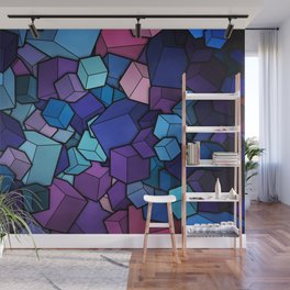 Abstract cubes Wall Mural