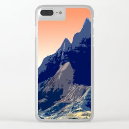 Badlands Peach Sky retro poster Clear iPhone Case