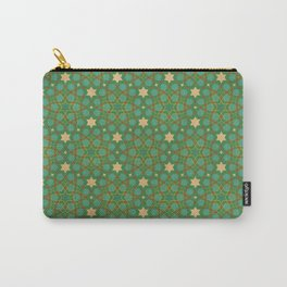 Emerald Weave Carry-All Pouch
