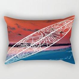 Surf Dragon Rectangular Pillow