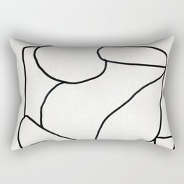 Abstract line art 2 Rectangular Pillow