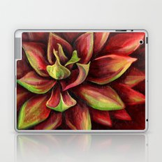 Red Succulent Cactus, Blue Flame Agave Laptop & iPad Skin