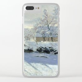 The Magpie by Claude Monet Clear iPhone Case