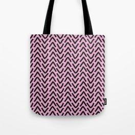 chevron pink rose Tote Bag