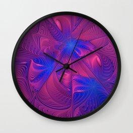 Frozen Flowers II Wall Clock