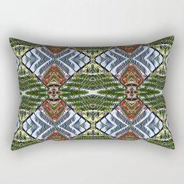 Royal Poinciana Fronds Diamond OP Pattern Rectangular Pillow