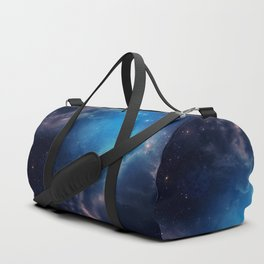 Space background of blue color Duffle Bag