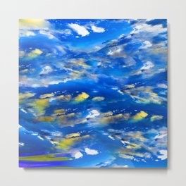 CLOUDS ABSTRACT Metal Print
