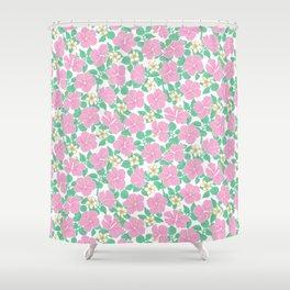 Hibiscus and Plumeria Shower Curtain