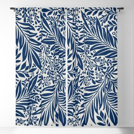 Vintage foliage seamless pattern for fine home decoration Blackout Curtain