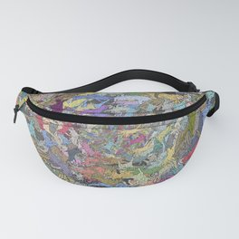 Colorful Flying Cats Fanny Pack