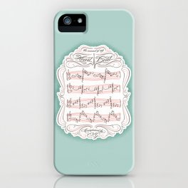 The Sound of My Heart Beat iPhone Case