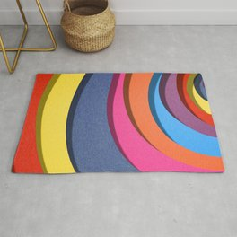 colorful wave Rug