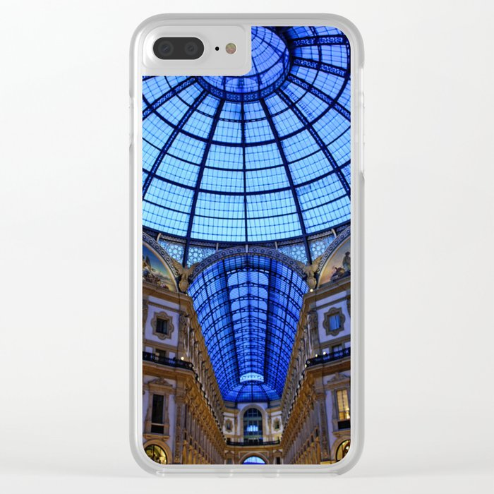 Shoping in Milan Clear iPhone Case