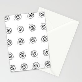 Passion flowers sketched Stationery Cards