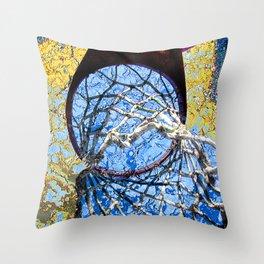 Basketball Art Street Design Throw Pillow