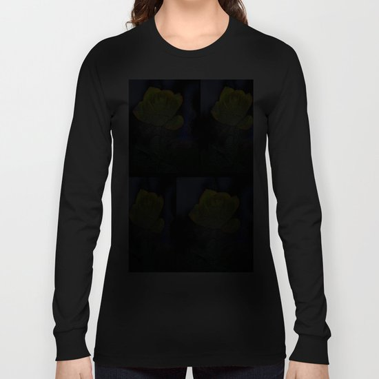 Black Plastic Rose Long Sleeve T-shirt