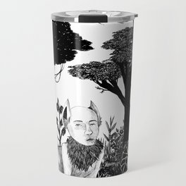 some dudes hanging out in the jungle Travel Mug