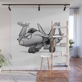 F/A-18 Hornet Naval Military Fighter Jet Aircraft Wall Mural