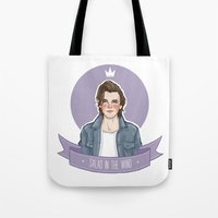 louis tomlinson Tote Bags featuring Louis Tomlinson  by vulcains