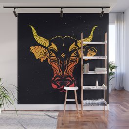 Angry cattle in the wind by #Bizzartino Wall Mural