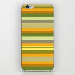 Yellow, Green, Orange Stripes iPhone Skin