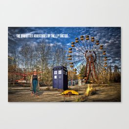 Doctor Who and the Dalek Playground Canvas Print